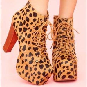 Jeffrey Campbell Lita Boots Cheetah Print
